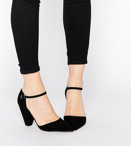 Read more about Asos speaker pointed heels - black