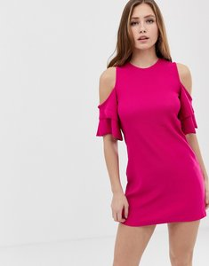 Read more about Bershka cold shoulder shift dress - pink
