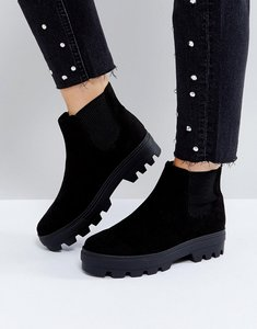 Read more about Asos arena chunky chelsea boots - black