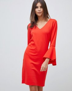 Read more about Vila fluted sleeve dress - fiery red