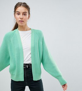 Read more about Asos design tall eco chunky cardigan with volume sleeve - mint