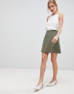 Read more about Asos design tailored a-line mini skirt - khaki