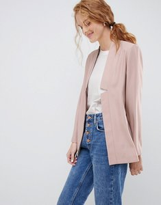 Read more about Asos design tailored easy chuck on blazer - nude