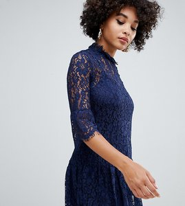 Read more about Missguided lace frill detail shift dress in navy