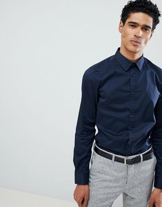 Read more about United colors of benetton slim fit shirt with stretch in navy - 06u