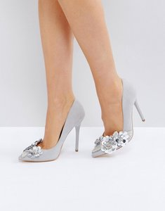 Read more about Office hot stuff pointed court shoes - grey