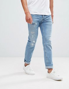 Read more about Jack jones intelligence jeans in slim fit vintage blue distressed denim - denim 177