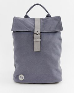 Read more about Mi-pac canvas fold top backpack in charcoal - charcoal1