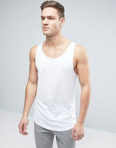 Read more about Esprit longline vest with curved hem - white solid