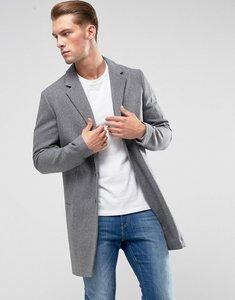 Read more about Jack jones premium wool overcoat - light grey melange
