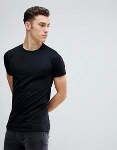 Read more about French connection long line side zip t-shirt - black