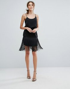 Read more about Zibi london fringed pencil skirt - black