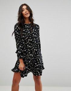 Read more about Brave soul floral print skater dress - black