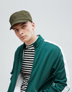 Read more about Pretty green cotton railroad hat in khaki - green