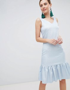 Read more about Closet london drop hem sleeveless dress - pale blue