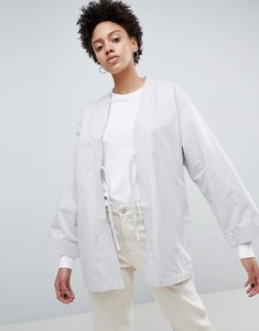 Read more about Waven imma unisex belted kimono jacket - mink grey