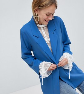 Read more about Monki tailored blazer - blue