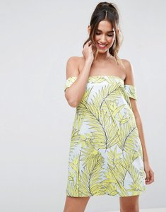 Read more about Asos tropical aline mini dress - yellow