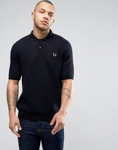 Read more about Fred perry reissues polo mesh knit in navy - navy