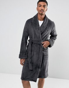Read more about French connection fleece dressing gown - grey