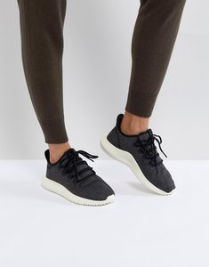 Read more about Adidas originals tubular shadow trainers in black - black
