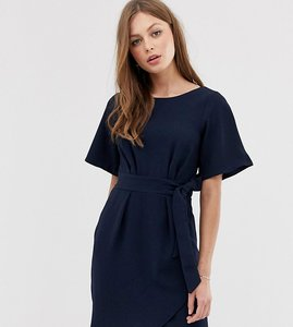 Read more about Closet london tie front dress with kimono sleeve - navy
