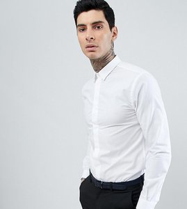 Read more about Heart dagger skinny smart shirt - white