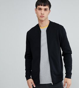 Read more about Asos tall jersey bomber jacket in black - black