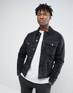 Read more about Hoxton denim jacket camo denim - black