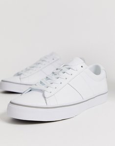 Read more about Polo ralph lauren sayer leather trainer polo player logo in white