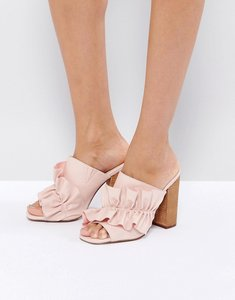 Read more about Asos talent scout ruffle mules - pale pink