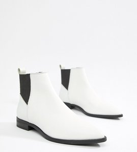 Read more about Asos design atom leather chelsea boots - white leather