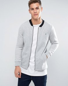 Read more about Jack jones bomber zip sweat with contrast sleeve - grey