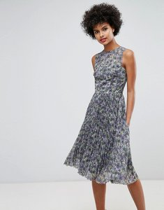 Read more about Warehouse printed pleated midi dress - multi