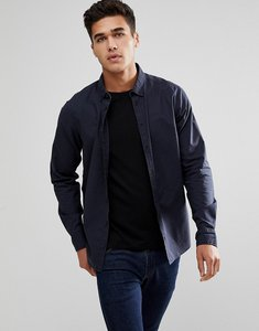 Read more about Blend navy shirt with fleck detail - dark navy