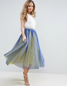 Read more about Asos tulle prom skirt with two colour layers - blue yellow