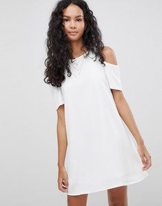 Read more about Glamorous cold shoulder dress - white