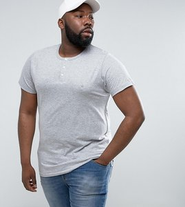 Read more about French connection plus henley t-shirt - grey
