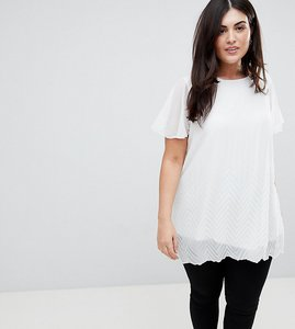 Read more about Lovedrobe pleated tunic - white