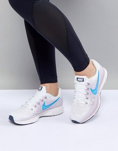 Read more about Nike running air zoom pegasus trainers in white - summit white equator