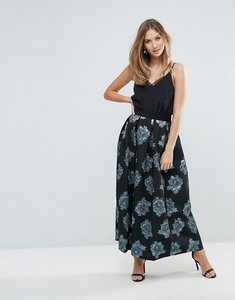 Read more about Closet floral jacquard pleated long skirt - multi