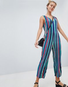 Read more about Bershka multi striped plisse jumpsuit - multi