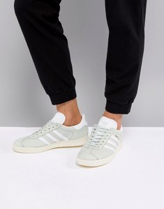 Read more about Adidas originals gazelle trainers - linen green