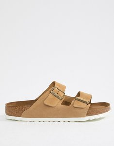 Read more about Birkenstock arizona sandals in sand suede - beige