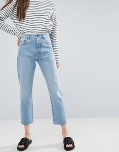 Read more about Asos design florence authentic straight leg jeans in cambridge light mid wash - light mid wash