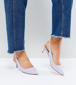 Read more about Asos spirit slingback kitten heels - pale blue