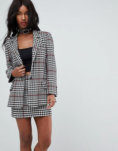 Read more about Asos tailored mansy blazer in prince of wales check - check