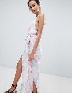 Read more about Influence tie dye side split beach dress - multi