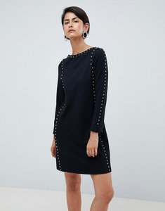 Read more about French connection luna rhinestone studded shift dress - black