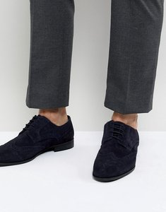 Read more about Kg by kurt geiger brogues in navy suede - blue